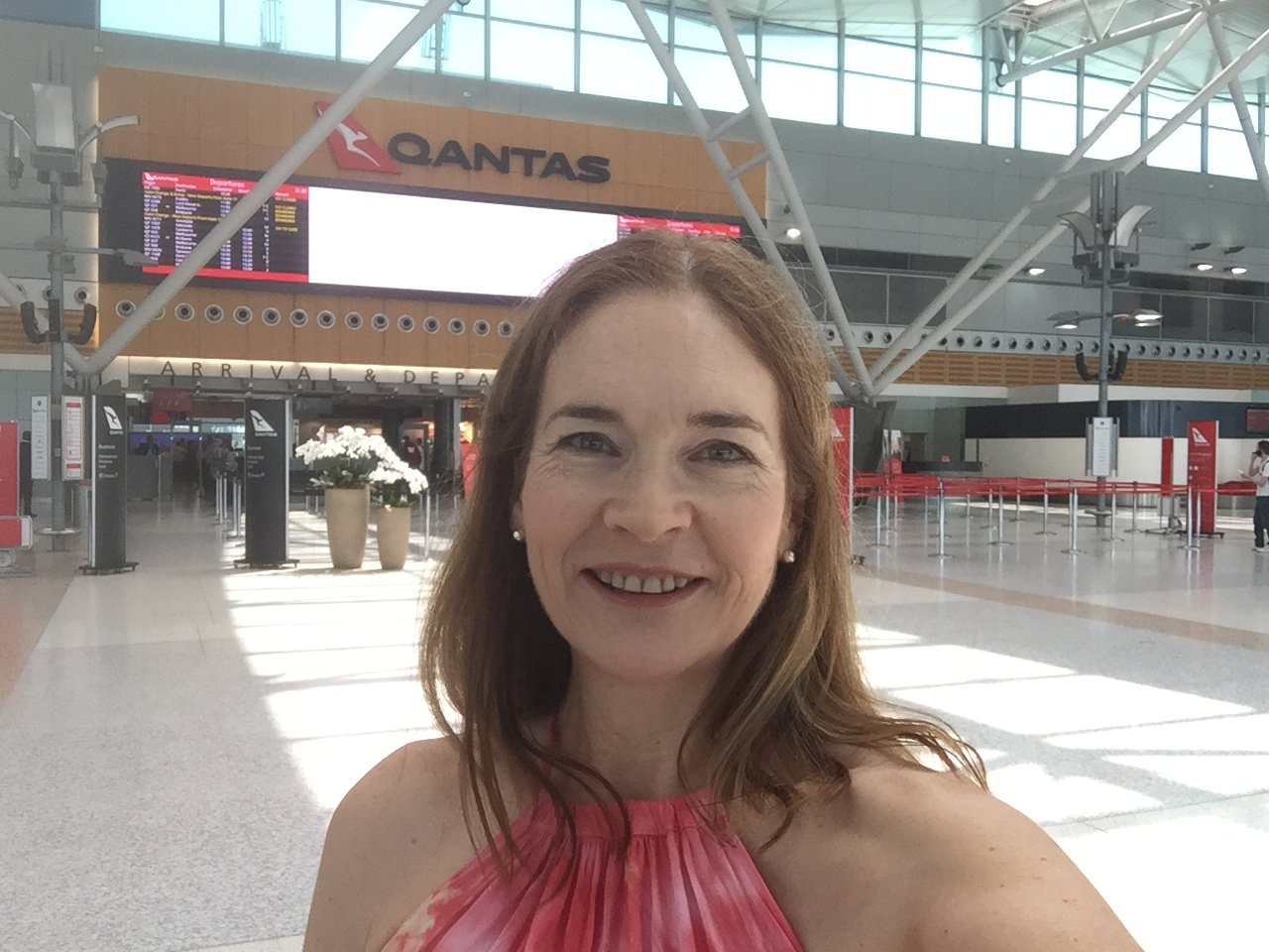 Stacey at Sydney Airport Qantas