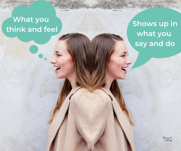 What we think and what we feel shows up in what we say and what we do